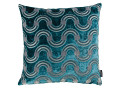 Spot on Waves Cushion Teal
