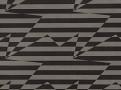 Stripey Zig Zag Birds Wallcovering Noir