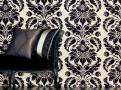 Grandis Flock Wallcoverings Charcoal 1