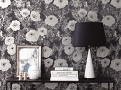 Lomasi Wallcovering Charcoal 1