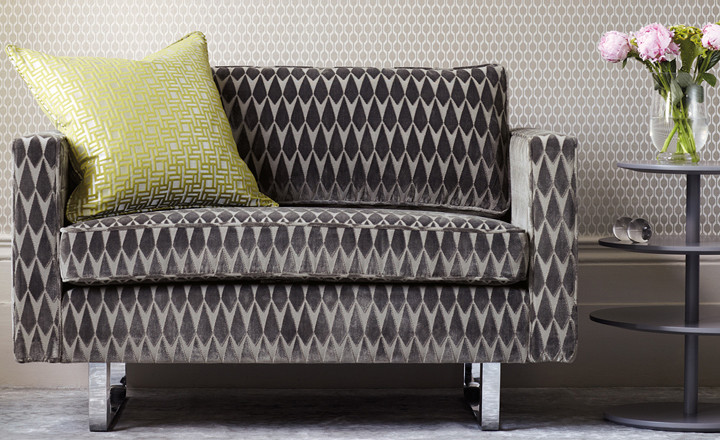 Romo Geometric Velvets available to buy online at Marsh & Co.