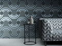 Spot On Waves Wallcovering Steel 1
