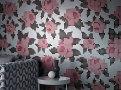Peg Art Roses Wallcovering Steel 2
