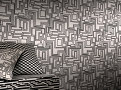 Electro Maze Cushion Monochrome 1