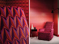 Domino Pyramid Wallcovering Crimson 1