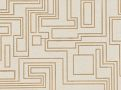 Electro Maze Wallcovering Gold