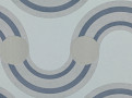 Spot On Waves Wallcovering Steel