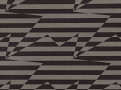 Stripey Zig Zag Birds Wallcovering Noir