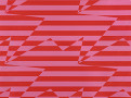 Stripey Zig Zag Birds Wallcovering Crimson