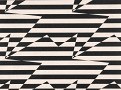 Stripey Zig Zag Birds Wallcovering Monochrome