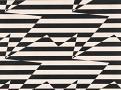 Stripey Zig Zag Birds Wallcovering Monochrome