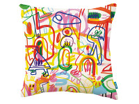 Rainbow Scrawl  Cushion