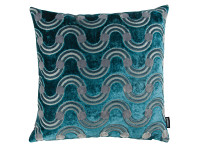 Spot on Waves Cushion Teal Image 2