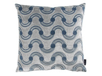 Spot on Waves Cushion Steel Immagine