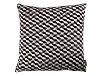 Zig Zag Birds Cushion Monochrome Image 2