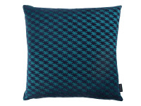 Zig Zag Birds Cushion Teal Image 2