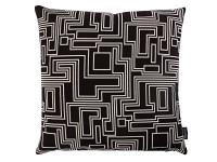 Electro Maze Cushion Noir Image 2