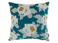 Peg Art Roses Cushion Teal Image 2