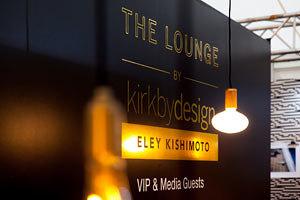 Die Lounge von Kirkby Design und Eley Kishimoto auf der designjunction, London