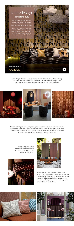 Kirkby Design Fuorisalone 2018