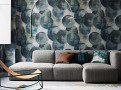 Lune Wallcovering Peacock 1