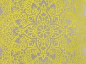 Byzantine Flock Wallcovering Chartreuse
