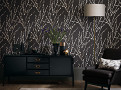 Mikado Wallcovering Charcoal 1