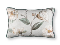 Japonica Embroidery Cushion Eucalyptus Image 2
