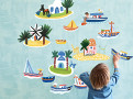 Island Hopping Wall Stickers 1