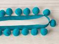 Pom Pom Braid Turquoise