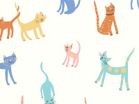 Pretty Kitty Wallcovering