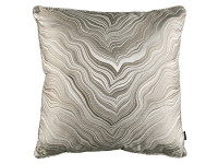 MARBLEOUS 50CM PIPED CUSHION Linen Image 2